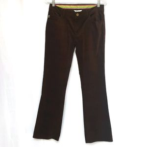 Lilly Pulitzer Brown Corduroy Pants Flare NWOT